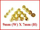 "1/4"" / 9x7mm Cone Screwback Spike Studs Leathercraft Spot Nickel Silver / Gold"
