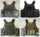 New Airsoft Molle Strike Tactical Plate Carrier Vest With 4 Pouch 4 Colors