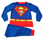 Fancy Dress Superman Pyjamas 2 3 4 5 6 7 8  Years Super man PJs with Cape
