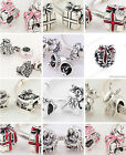 925 Solid Sterling Silver Christmas Charms Bead fit European Charm Bracelet
