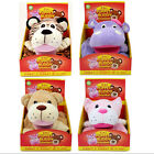 2in1 Puppet Buddy Blanket Animal Hippo Tiger Bear Cat Kids Soft Comfort 75x107cm