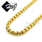 """16-30""""MEN WOMEN Stainless Steel 2mm Gold Smooth Box Link Chain Necklace"""