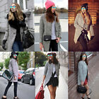 Donne Plaid giacca manica lunga cappotto Trench Coat Windbreaker Parka Tops