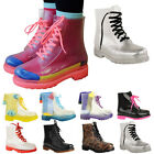 Buff Shoes Womens Flat Clear Festival Jelly Wellies Low Ankle Rain Boots Shoes