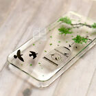 MGZ Disegno Real Pressed Flower Bling Hard Skin Case Cover For Samsung iPhone