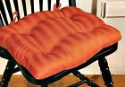 CHAIR PAD/CUSHION SATIN STRIPE ORANGE