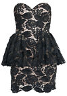 Forever Unique - JASMIN - Black Lace Party Dress
