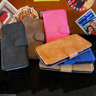 LUXURY SUEDE LEATHER WALLET CASE STAND COVER FOR APPLE IPHONE 5S SE 6S 7 8 PLUS
