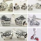 925 Sterling Silver Solid Wheel Beads Series Fit European Charm Beads Bracelets