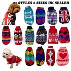 CUTE KNITTED DOG JUMPER SWEATER PET CLOTHES FOR SMALL DOGS VARIOUS STYLES