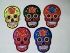 "ROSE SUGAR SKULL DAY OF THE DEAD 3.5"" x 2.5"" sew / iron on patch applique CHOICE"