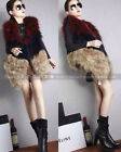 100% Real Genuine Raccoon Fur Vest Waistcoat Gilet Jacket Ladies Street Fashion