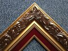 3.25 ELEGANT Gold Ornate Picture Frame Red Velvet  Oil Painting Wedding 1216GR