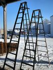 Vintage Wooden 10 Step Ladders for Decorating - Wood Surface or Painted Ladders