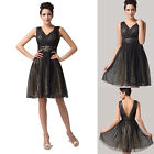 HOT SALE 2015 Short Shining Sequins Evening Party Ball Gown Prom Cocktail Dress