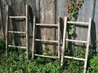 Vintage Wood 3 Rung Ladder - We Now Paint Country Colors