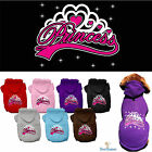 Внешний вид - Dog Clothes PRINCESS Coat Hoodie Sweater Jacket for Dog Dogs Puppy COTTON