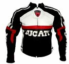 Mens High Quality Leather Ducati Motorcycle Jacket   Pants Custom Made Size XL