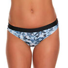 Printed Ladies Swimwear Lined Bikini Bottom, Black elastic band size 8 10 12 14