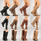 Womens New Riding Boots Knee High Fashion Faux Leather Boot Stylish Shoes Size