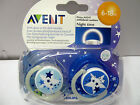 PHILIPS AVENT ORTHODONTIC GLOW IN THE DARK NIGHT-TIME SOOTHER BOY 6-18M BPA FREE