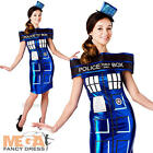 Doctor Who Tardis Ladies Fancy Dress Sci-Fi Time Machine Womens Adults Costume