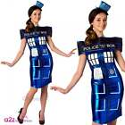 Doctor Who Tardis Dress Costume Adult Ladies Licensed Space TV Sizes UK 6-18
