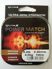 Ultima Power Match Carp Line Available in 10lb 12lb & 15lb 100m spools FREE POST