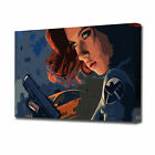 LARGE BLACK WIDOW POP ART CANVAS PRINT EZ1029