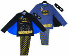Boy's Batman Caped Crusader Batwing Costume Pyjamas with Mask 3-8 Years NEW