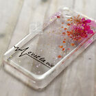 MBC Glitter Pressed Real Flower Bling Hard Skin Case Cover For Samsung iPhone