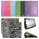 PU Leather Portfolio Folding Cover Case with Stand For Apple iPad 2 3 4
