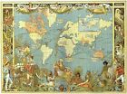 Vintage Style Map of The World 1886 Victorian British Empire Poster Print A4 A3