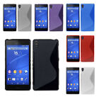 Matt Soft TPU Silicone Gel Rubber S Line Back Case Cover Skin For Sony Phones