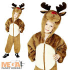 Rudolf Reindeer Christmas Fancy Dress Animal Costume Boys Girls Child Outfit