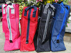 LONG RIDING BOOT CARRYING STORAGE BAG CASE * NAVY BLUE BLACK RED PINK
