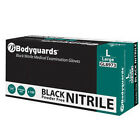 Bodyguards Black Nitrile Disposable Gloves GL897 - Case of 1000 (10 Boxes)