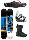 FLOW MERC Black 153cm Snowboard+2015 Flow Flite Bindings+Flow BOA Boots+FLOW BAG