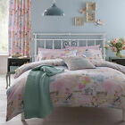 Vintage Collage Shabby Chic Hearts Birds Duvet/Quilt Cover Set, Pink and Aqua