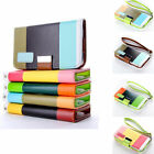 For Apple iPhone 5 5s New Hybrid Leather Case Cover Wallet Card Holder Wristlet