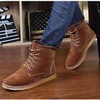 Men's Winter Thickened Warm Lace Up Snow Boots Vintage Casual Shoes with Fur