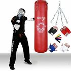 TurnerMAX Punch Bag Boxing Punchbag Boxing Bags Gloves Kickboxing Red