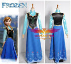 Disney Frozen Snow Queen Anna Cosplay Costumes Dress + Shirt for Christmas Gift