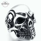 MENDINO Men's Huge 316L Stainless Steel Ring Skull Lord Biker Gothic Punk Silver
