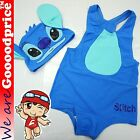 Baby Child Bathing Swimwear One-Piece With Cap Stitch Style Costume Size Chart