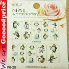 Color Printing Water Tranfer Nail Art Stickers Gift Penguin Style 6-20