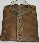 Brown Formal Indian Wedding party reception Sangeet Wear Free shawl all sizes