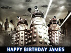 DR WHO DALEKS Cake Decoration icing sheet personalised Birthday Party