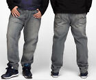 Hip-Hop JSMIX Mens Jeans Pants Baggy Loose Denim Streetwear Trousers #M1