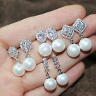 Sparking Bling Crystal CZ ztones Shell Pearl Various Drop Earring Dangle
